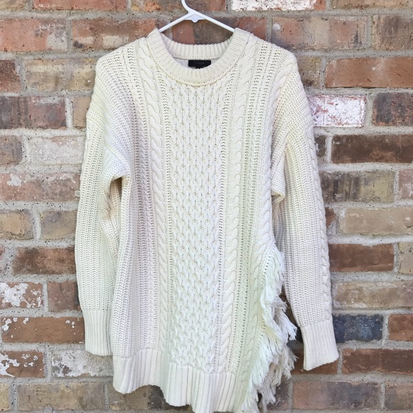 d6121d54 J. Crew Sweaters | J Crew Cable Knit Fringe Sweater | Poshmark